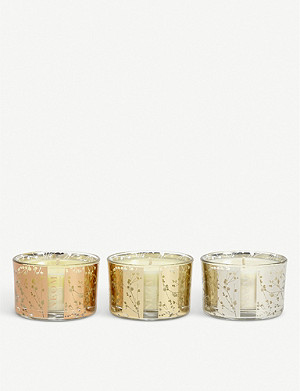 NEOM LUXURY ORGANICS Scents of Wellbeing candle set 3 x 75g