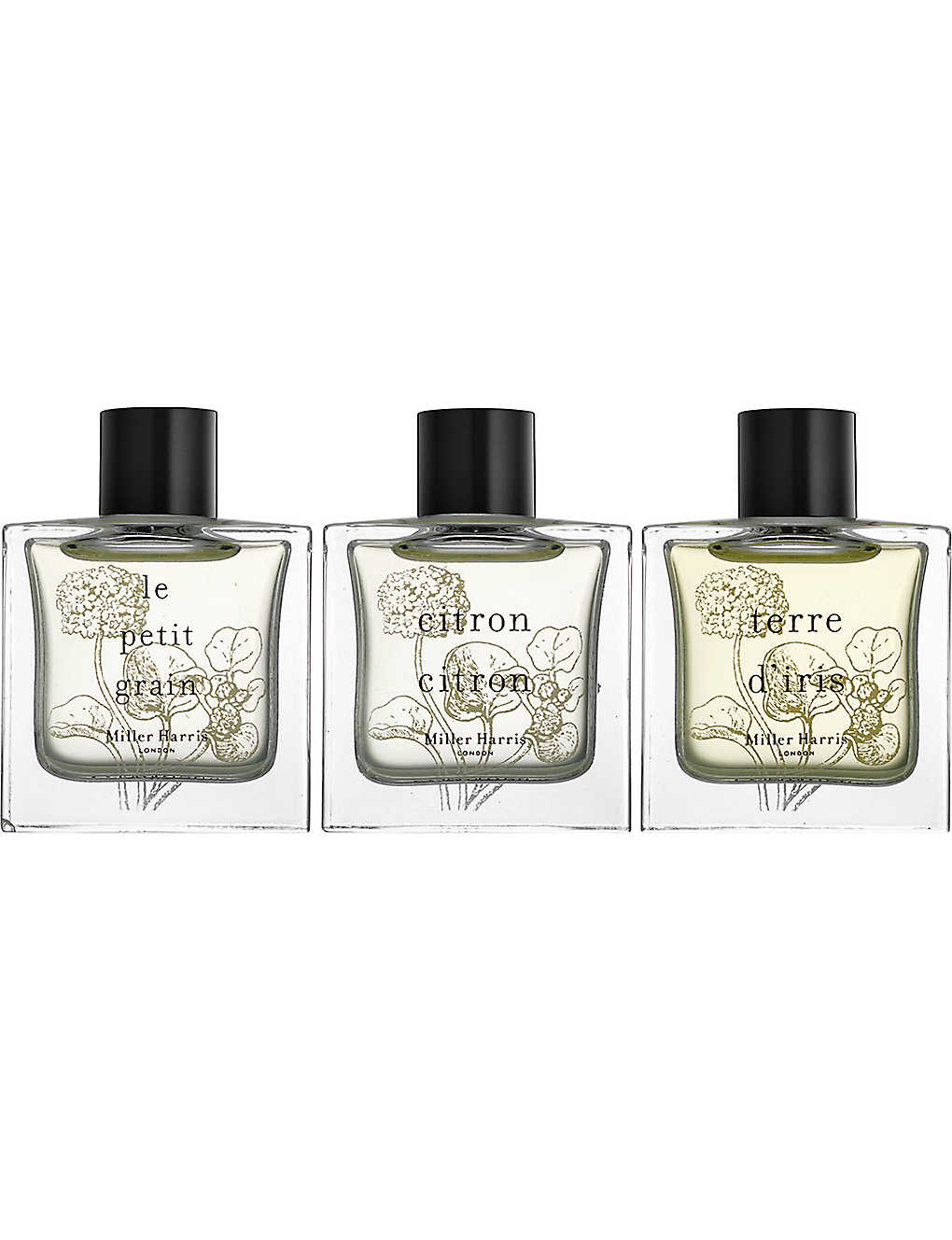 d64ceb2f1 MILLER HARRIS - Set of three citrus fragrance collection gift set ...