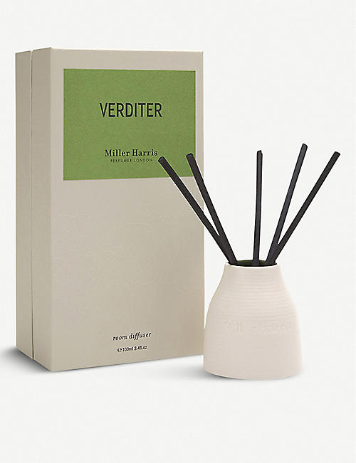 MILLER HARRIS: Verditer Reed Diffuser Set 100ml