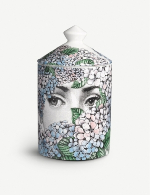 FORNASETTI Ortensia scented candle 300g