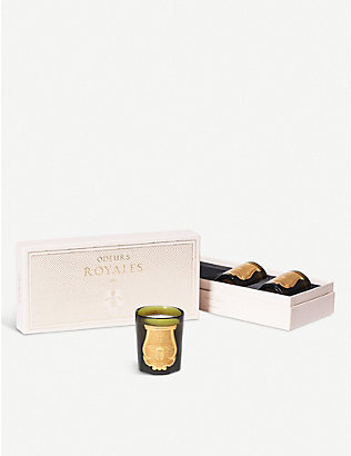 CIRE TRUDON: Odeurs Royales scented candle gift set 3 x 100g