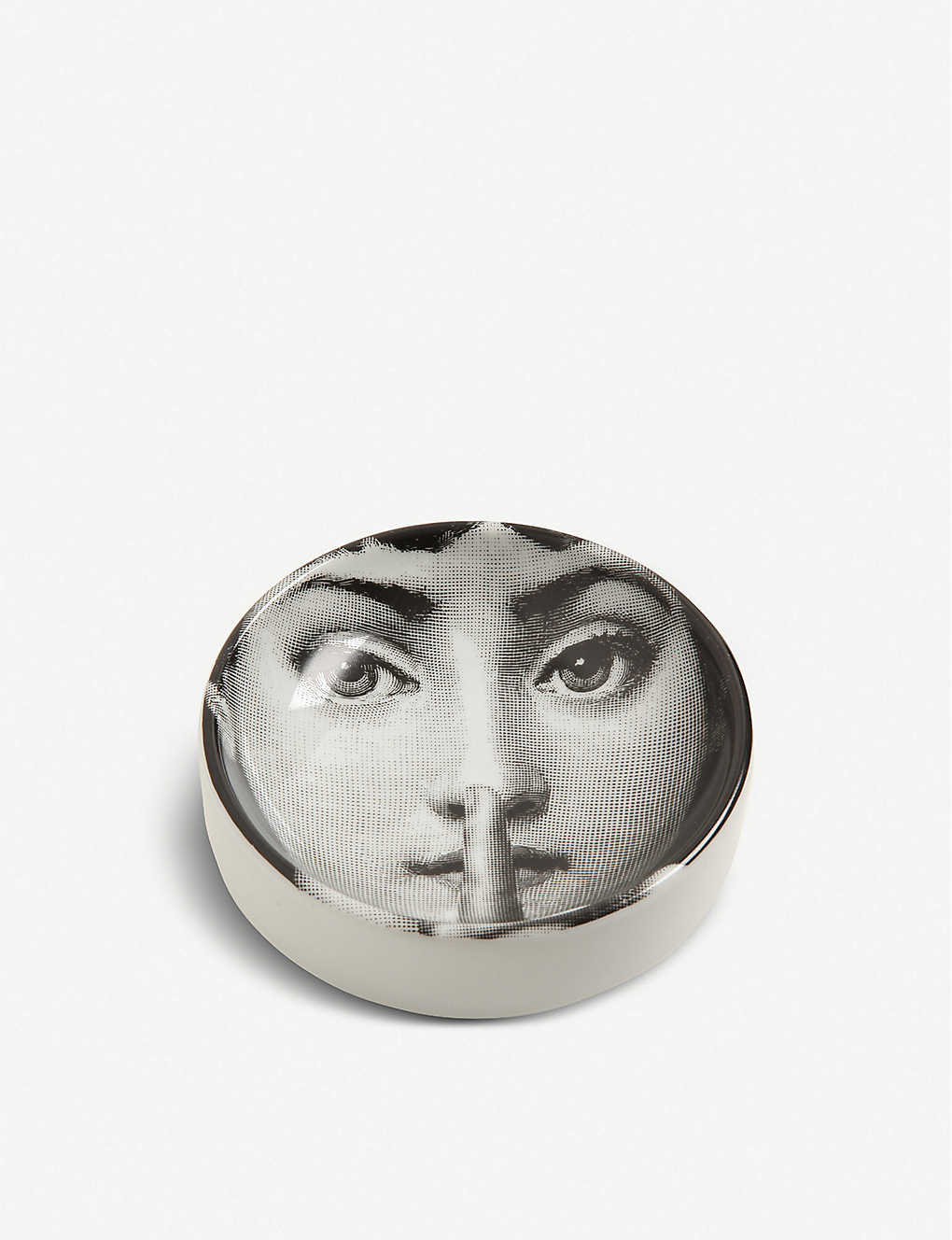 FORNASETTI: Round porcelain ashtray