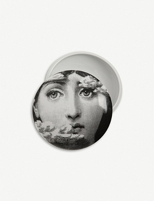 FORNASETTI Themes and Variations round porcelain box 11cm
