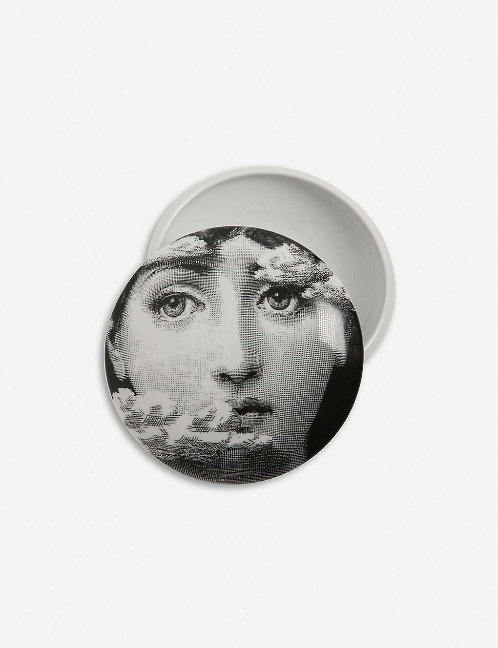 FORNASETTI: Themes and Variations round porcelain box 11cm