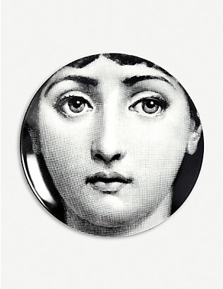 FORNASETTI: T&V no163 porcelain wall plate