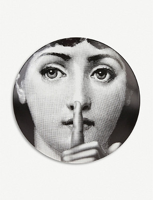 FORNASETTI Themes and Variations round porcelain wall plate 26cm