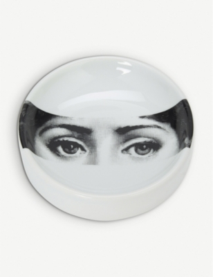 FORNASETTI Themes and Variations round porcelain ashtray 13cm