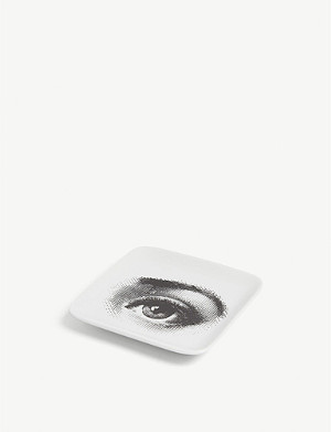 FORNASETTI Eye print ceramic ashtray 12cm x 12cm