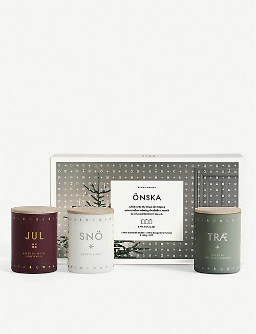 SKANDINAVISK Onska set of 3 candles