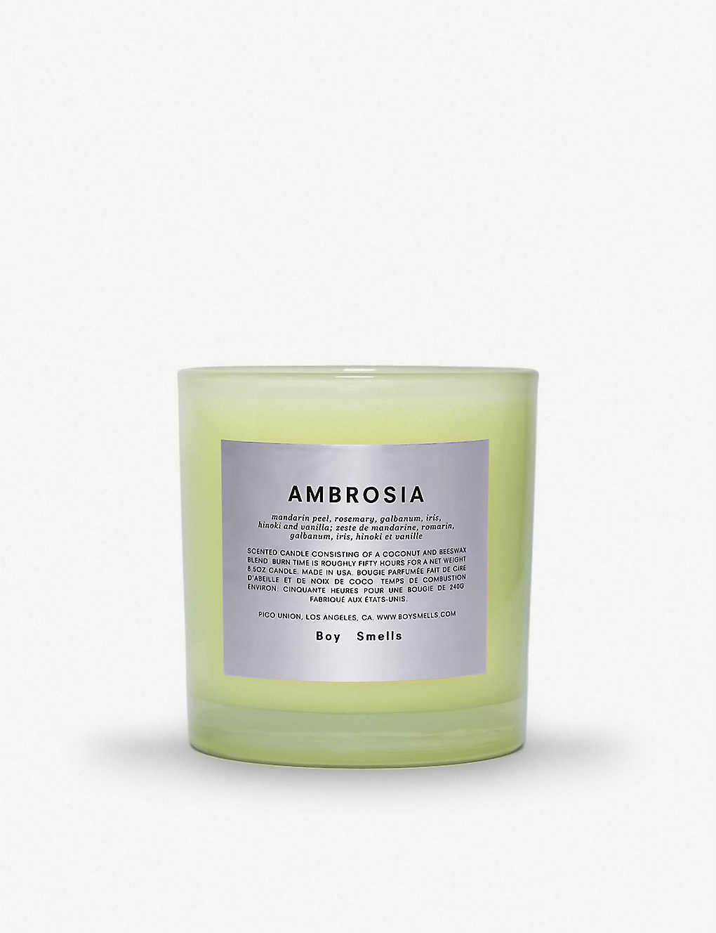 BOY SMELLS: Ambrosia scented candle 240g