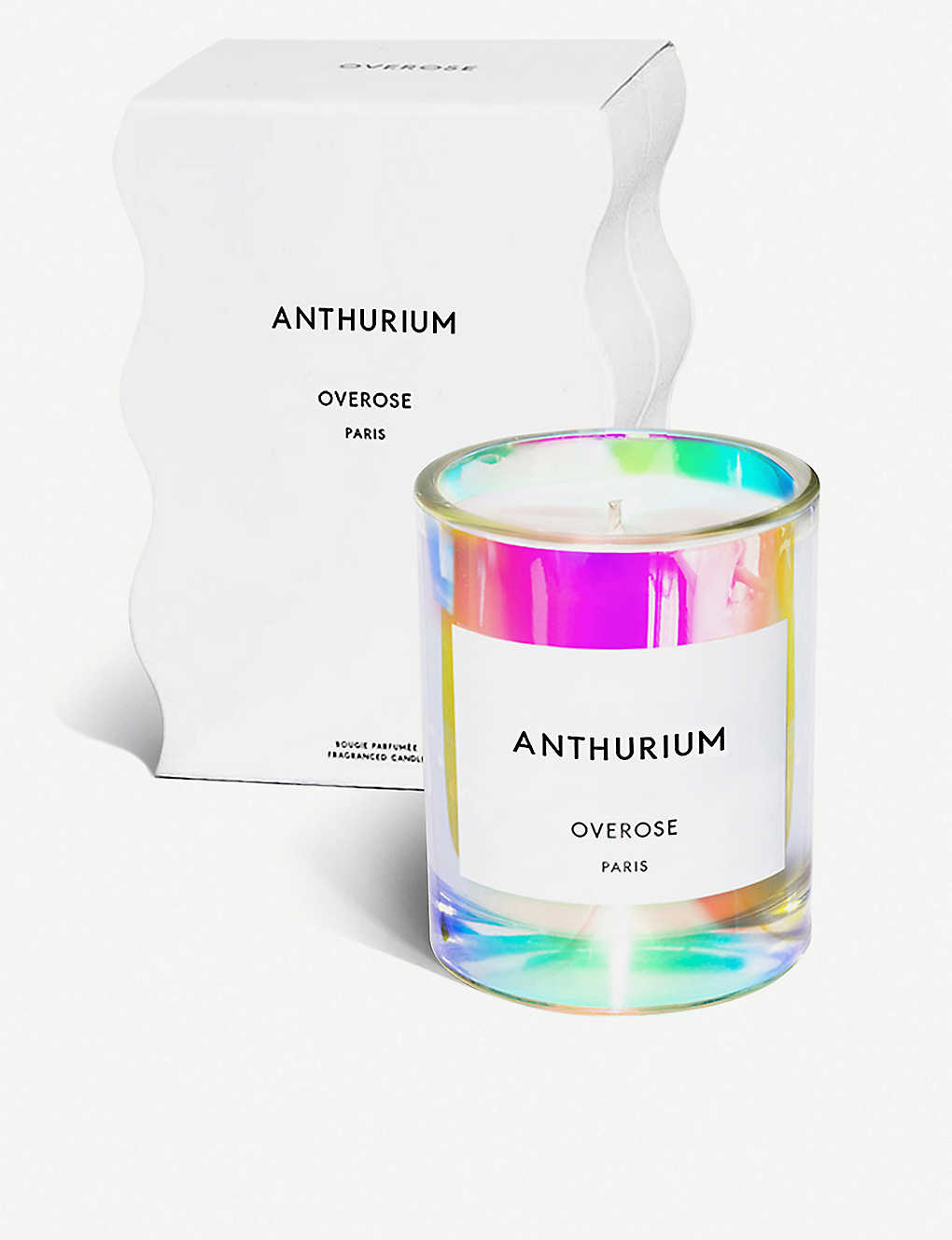OVEROSE: Anthurium holographic scented candle 220g