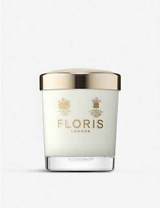 FLORIS: Sandalwood & patchouli scented candle 175g