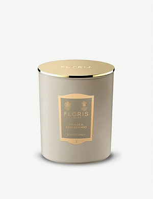 FLORIS Ginger and Sandalwood scented candle 200g