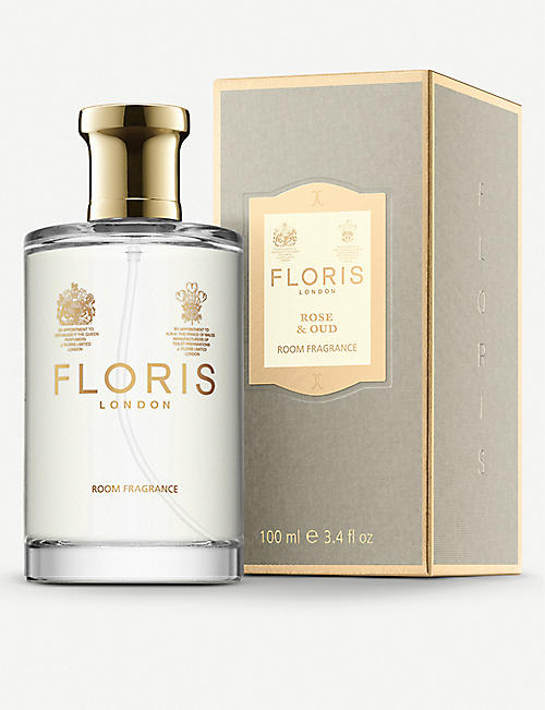 FLORIS: Rose and oud room fragrance 100ml