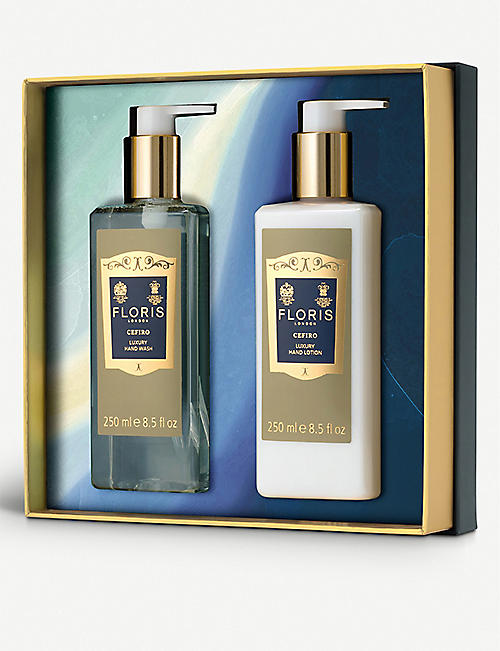 FLORIS Cefiro hand wash and lotion gift set 2x250ml