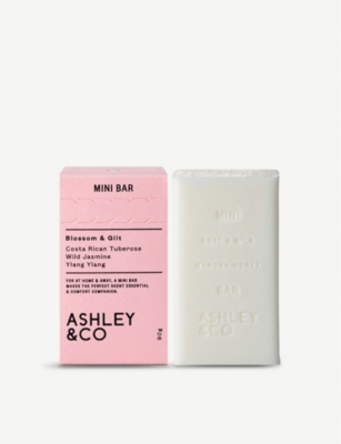 ASHLEY & CO Mini Bar Blossom & Gilt soap 90g