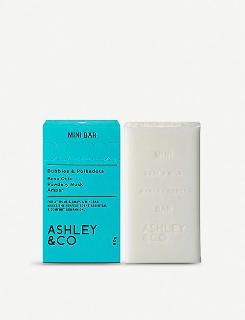 ASHLEY & CO Mini Bar Baubbles & Polkadots soap 90g