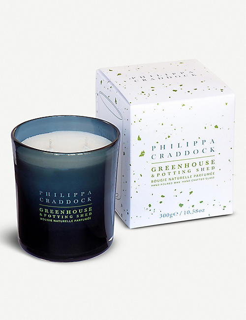 PHILIPPA CRADDOCK Greenhouse & Potting Shed wax candle 300g