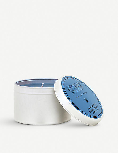 ARCHIPELAGO: Santorini travel tin candle