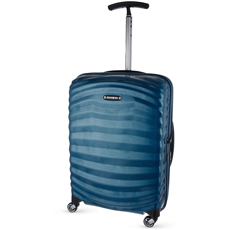 SAMSONITE | Samsonite Lite-Shock Spinner 55 Four-Wheel Cabin Suitcase, Petrol Blue | Goxip