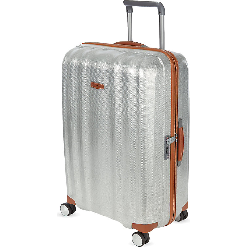 SAMSONITE | Samsonite Lite-Cube Deluxe Four-Wheel Spinner Suitcase 82cm, Aluminium | Goxip