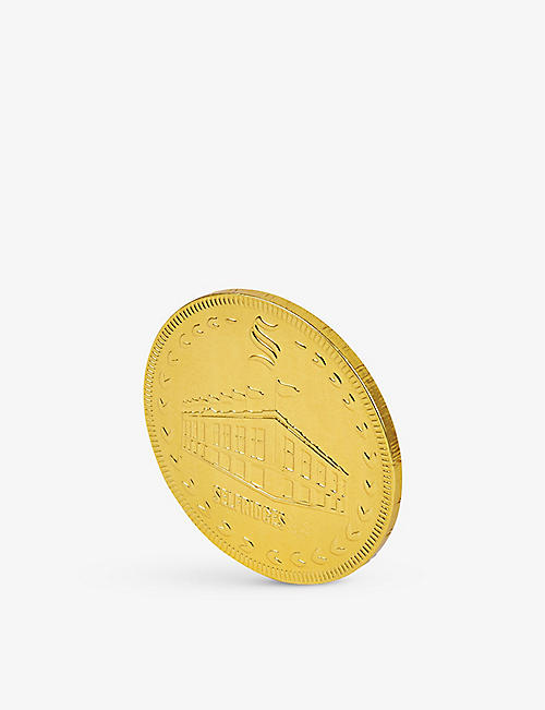 SELFRIDGES SELECTION: Giant milk chocolate coin 90g