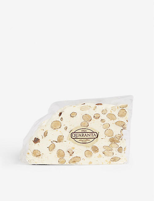 QUARANTA Almond nougat slice