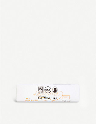 LA MOLINA: XXL three-layered dark and white gianduja chocolate 250g
