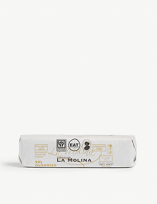 LA MOLINA XXL milk chocolate gianduja with salted almonds 250g