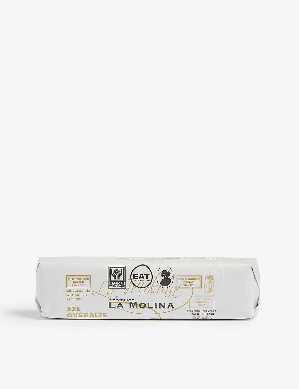 LA MOLINA: XXL milk chocolate gianduja with salted almonds 250g