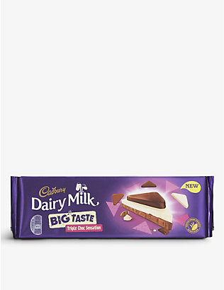 CADBURY: Big Taste Triple Choc Sensation chocolate bar 300g