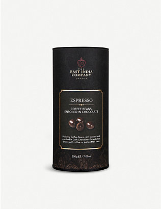 THE EAST INDIA COMPANY: Dark chocolate espresso beans 200g