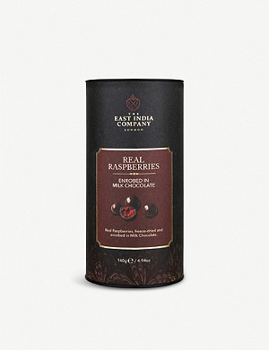 THE EAST INDIA COMPANY Milk chocolate raspberries 140g