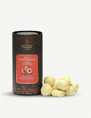 THE EAST INDIA COMPANY: White chocolate strawberries 140g