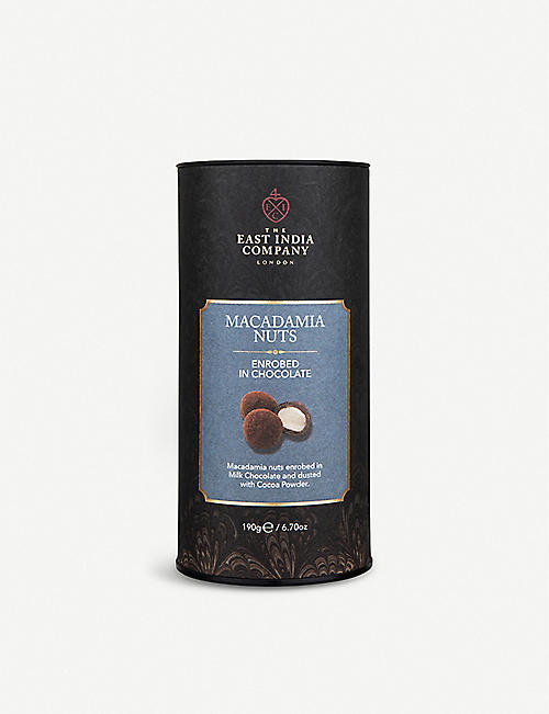 THE EAST INDIA COMPANY: Milk chocolate macadamia nuts 200g