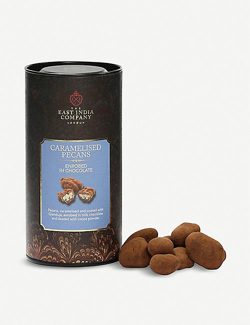 THE EAST INDIA COMPANY Milk chocolate caramelised pecans 190g