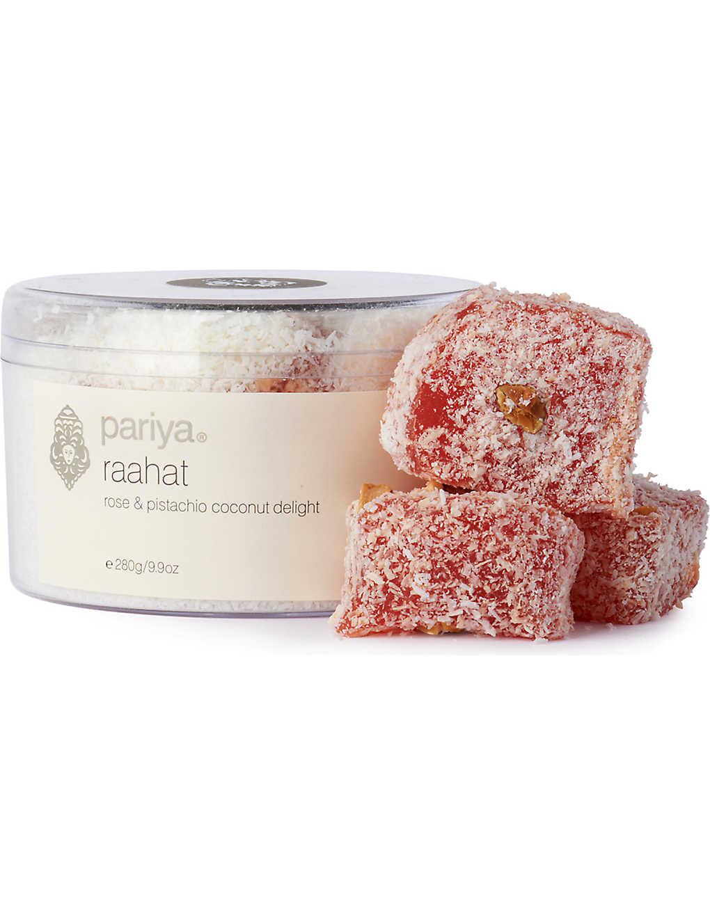 PARIYA - Raahat rose and pistachio coconut 280g | Selfridges com