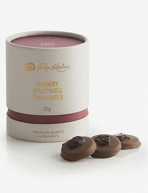 FUDGE KITCHEN Milk chocolate cherry bakewell caramels 125g