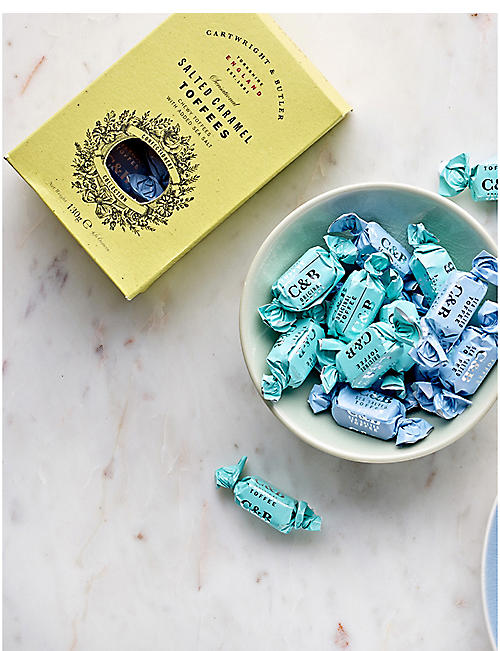 CARTWRIGHT & BUTLER Sea-salted toffees 130g