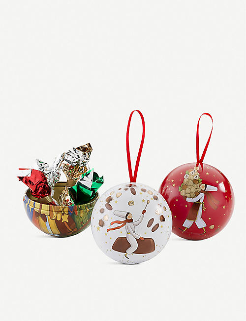 VENCHI Chocolate-filled baubles set of three