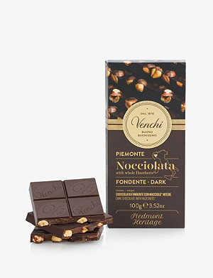 VENCHI Dark chocolate and hazelnut block 150g