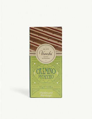 VENCHI: Cremino pistachio milk and white chocolate bar 110g