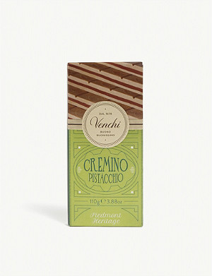 VENCHI Cremino pistachio milk and white chocolate bar 110g