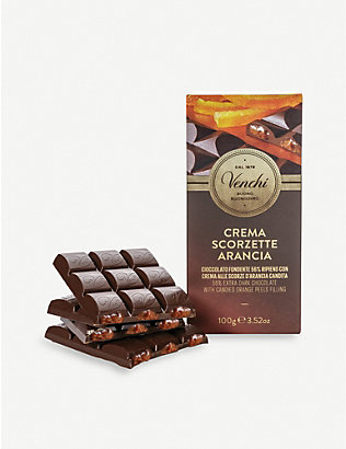 VENCHI: Orange filled chocolate bar 110g