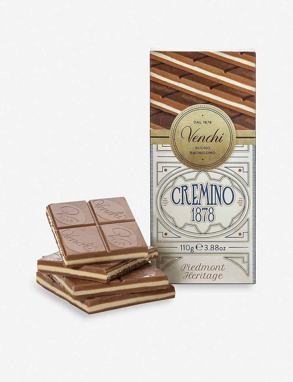 VENCHI: Cremino 1878 chocolate bar 110g