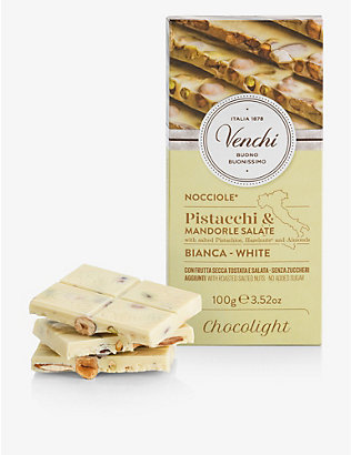 VENCHI: Salted nuts and white chocolate bar 100g