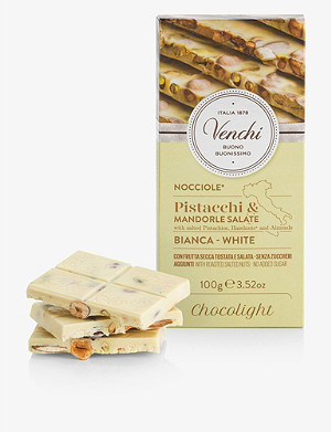 VENCHI White chocolate and salted nut bar