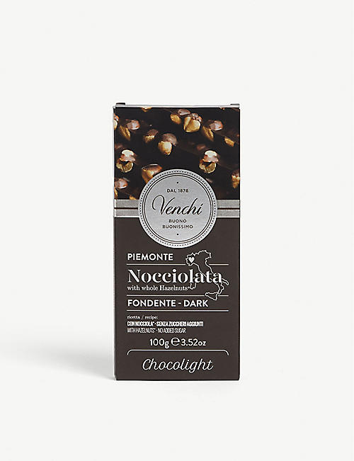 VENCHI: Dark chocolate with whole hazelnuts 100g