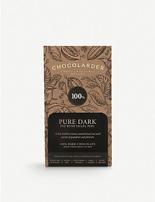 CHOCOLARDER: 100% pure dark chocolate 70g