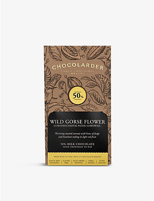 CHOCOLARDER: Gorse flower 50% milk chocolate bar 70g